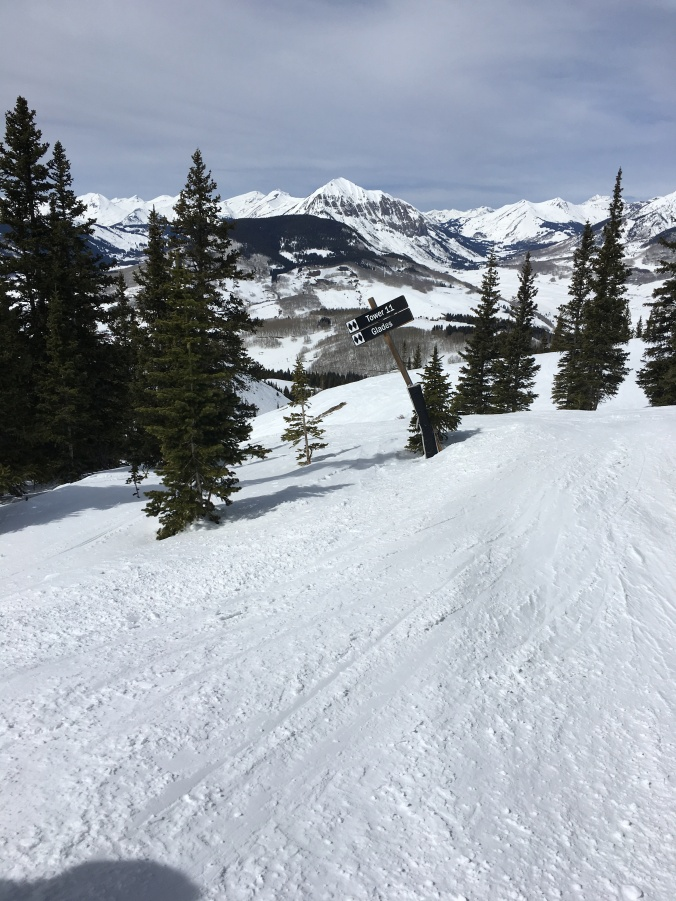 More challenging runs off the North lift.