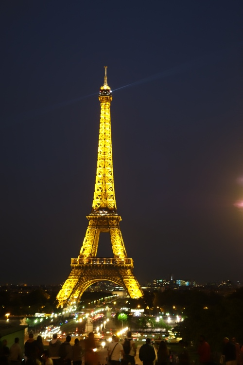 The Eiffel tower later that night.