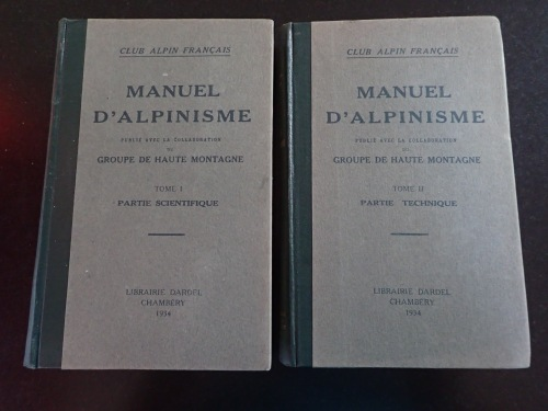 1934 publication of the Alpinism manual from the French Climbing and Mountaineering Federation