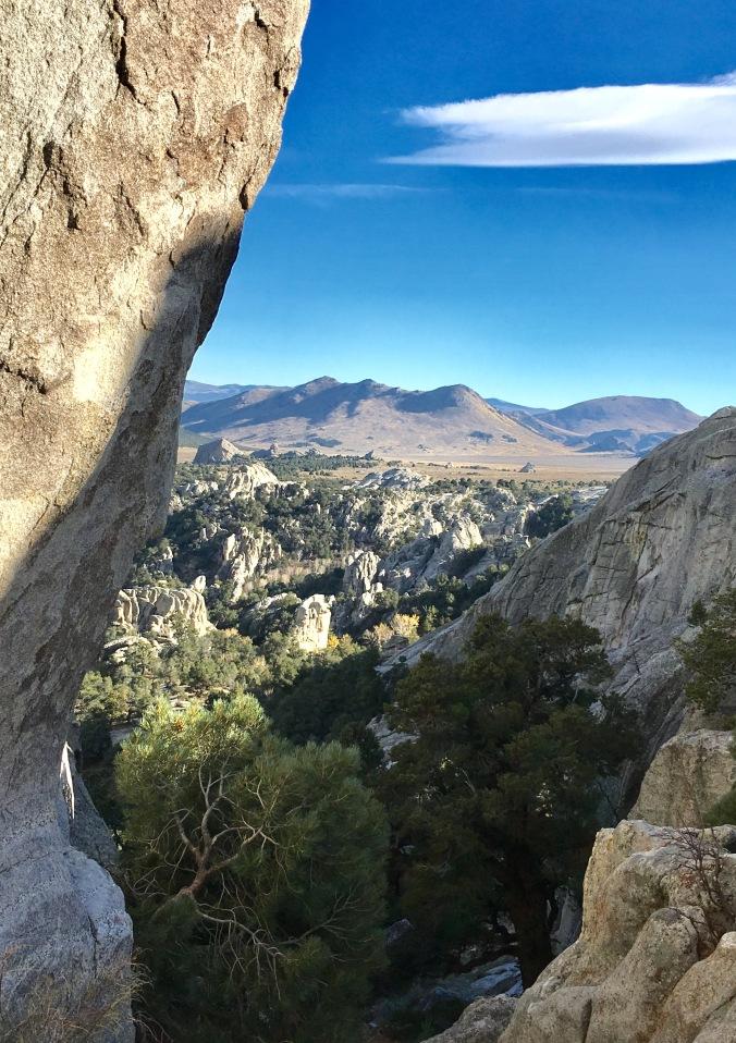 Window into the City of Rocks