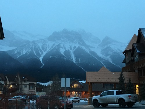 A typical 9am in Canmore