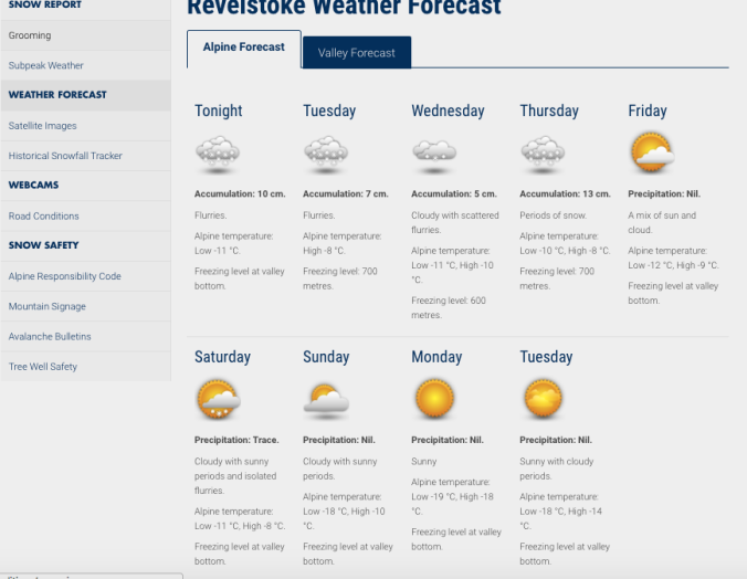 The forecast for Revy.