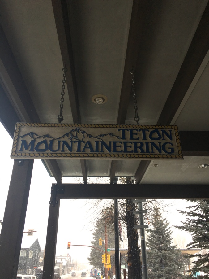 Teton Mountaineering shop, Jackson, WY