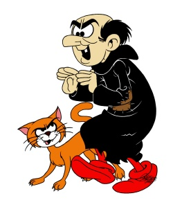 Gargamel. See what I mean? (Source: http://vignette1.wikia.nocookie.net/smurfsfanon/images/2/26/Gargamel_and_Azrael_Profile_-_Smurfs.jpg/revision/latest?cb=20120418230128)