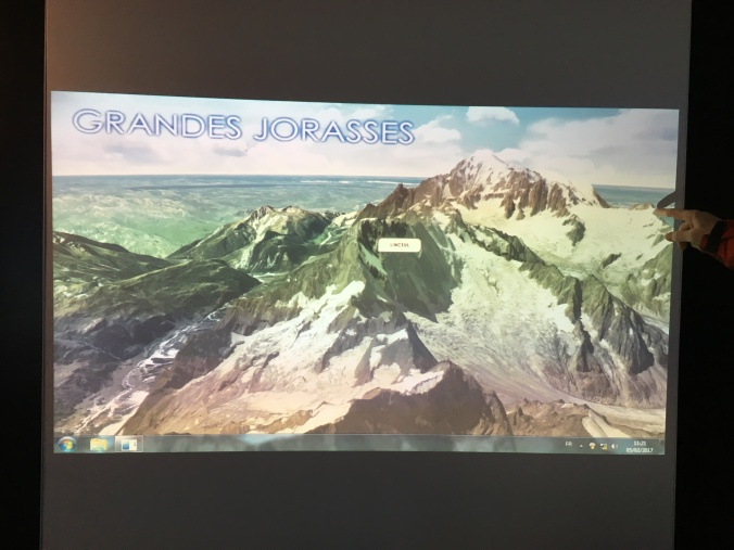 The interactive display for the Grandes Jorasses