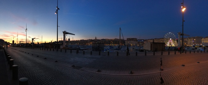 Vieux Port in the evening